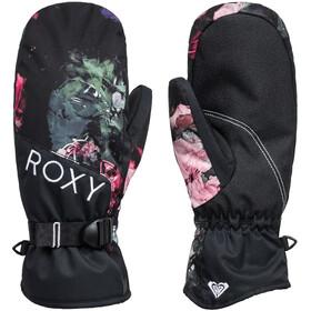 Roxy Jetty Mittens Women, true black blooming party